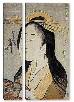 Модульная картина Utamaro002