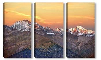 Модульная картина Лучше гор,могут быть только горы...