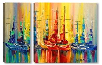 Модульная картина Лодки