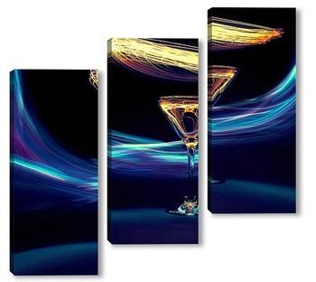 Модульная картина Светящийся напиток
