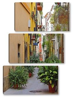 Модульная картина Старые улочки европейских городов