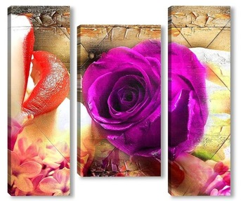 Роза и губы
