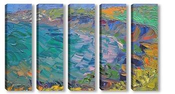 Модульная картина Морской берег, в Тамани.