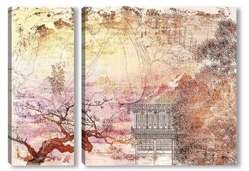 Модульная картина Японская живопись