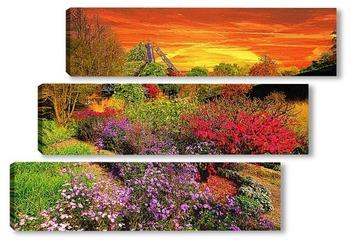Модульная картина В осеннем саду