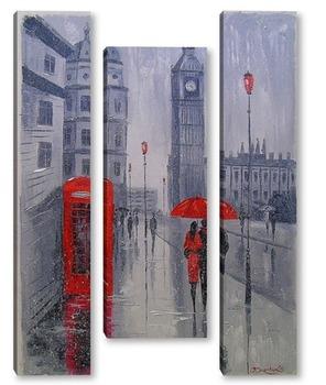 Модульная картина В Лондоне выпал снег