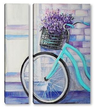 Модульная картина Картина Велосипед в Провансе