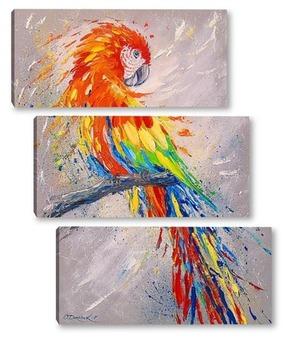 Модульная картина Попугай