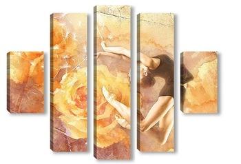 Модульная картина Балет и розы
