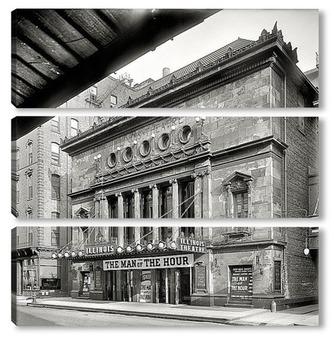 Модульная картина Театр Иллинойс, Чикаго, 1907