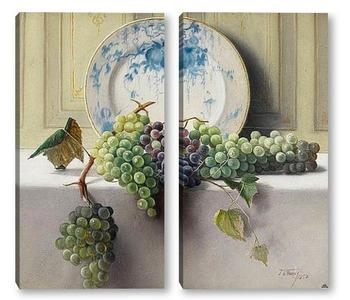 Модульная картина Натюрморт с виноградом