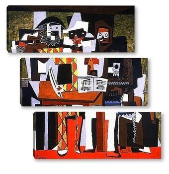 Модульная картина Три музыканта.