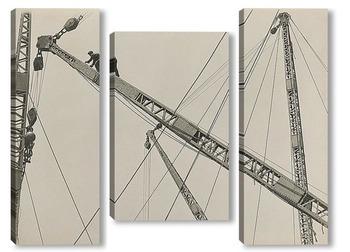 Модульная картина Эмпайр-стейт-билдинг, строительство