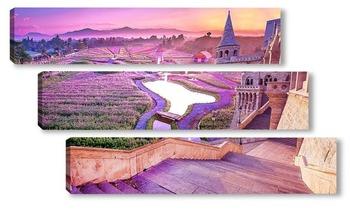 Модульная картина Цветущая долина