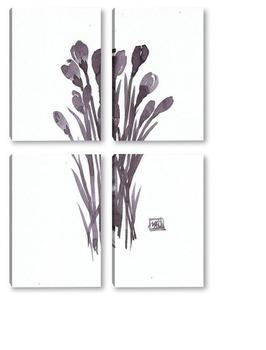 Модульная картина Крокусы