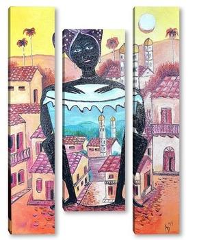 Модульная картина Куба Африка