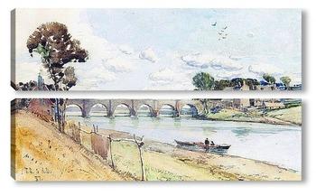 Модульная картина Мост на реке Ди
