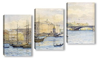 Модульная картина Вид Санкт-Петербурга из Невы