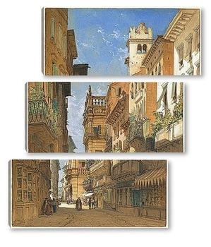Модульная картина Палаццо Маффей,Верона