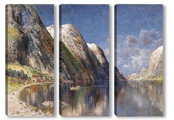 Модульная картина Озеро в горах