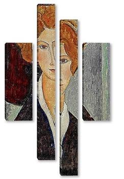 Модульная картина Портрет женщины, 1917-18