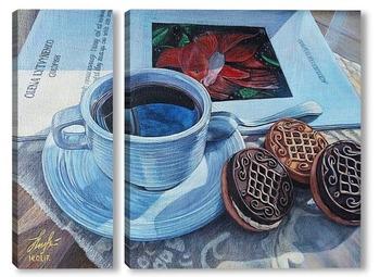 Модульная картина Перерыв на кофе.