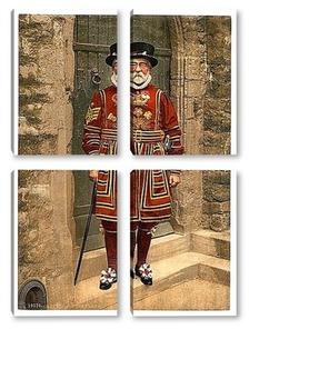 Модульная картина Лейб гвардия, Лондон, Англия. 1890-1900 гг