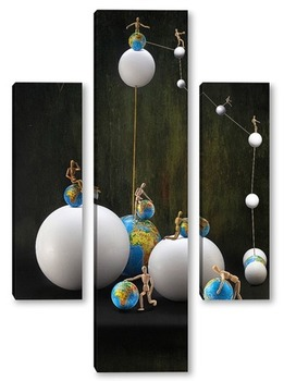 Модульная картина Сопряжение окружностей или Время собирать глобусы