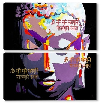 Модульная картина Будда
