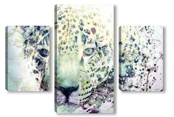 Модульная картина Леопард. Арт