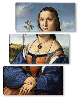 Модульная картина Портрет Магдалены Строцци Дони
