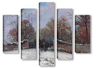 Модульная картина Вход в лес Марли (Снежный эффект)