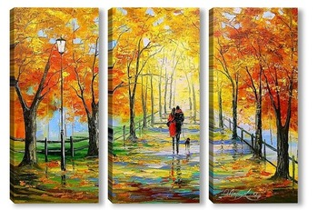 Модульная картина Золотая осень