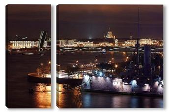 Модульная картина Ночной Петербург