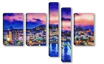Модульная картина Греция на закате