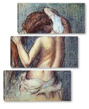 Модульная картина Женщина за туалетом. ок.1895