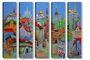 Модульная картина Московская мелодия