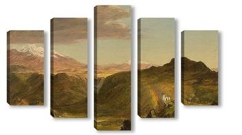 Модульная картина Южноамериканский пейзаж