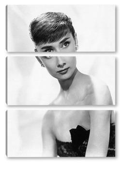 Модульная картина Рекламное фото Одри Хепбёрн,1953г.