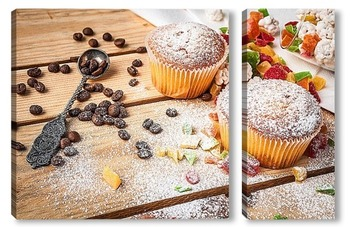 Модульная картина десерт