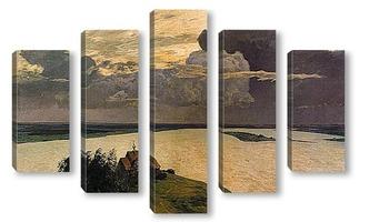 Модульная картина Над вечным покоем, 1894