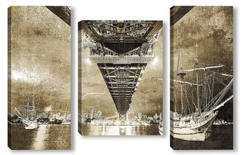 Модульная картина Мост через реку