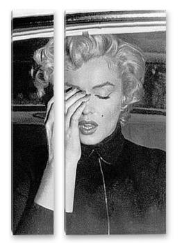 Модульная картина Плачущая Мерелин Монро после развода с Димаджио.