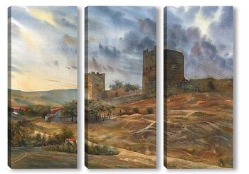 Модульная картина Феодосия. Генуэзская крепость