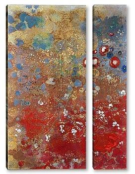 Модульная картина Красная панель