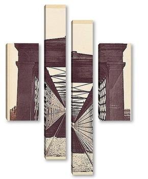 Модульная картина Барселона-Зарагоза,мост Зуера