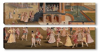 Модульная картина Картина художника XVII века
