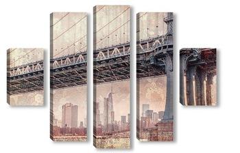 Модульная картина Манхэттенский мост