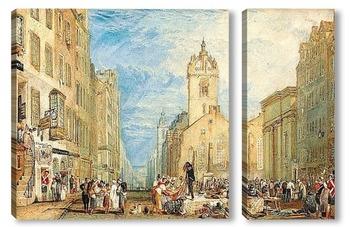Модульная картина Хай-стрит, Эдинбург, 1818