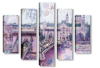 Модульная картина мост в Будапеште